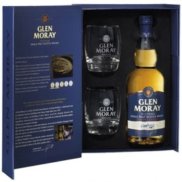 Whisky Glen Moray Classic Coffret 2 verres - Single Malt - Ecosse - Speyside Scotch Whisky