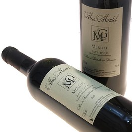 Mas Montel : Merlot Gard local wine - Red wine